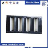 Фильтр ви-образност пластичной совмещенный рамкой для HVAC