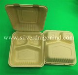 Compostable 생물 분해성 처분할 수 있는 처리되지 않는 갱지 상자, 450ml 햄버거 상자