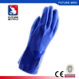 Перчатки покрытия PVC Ve780 безшовные для предохранения от руки химической устойчивости