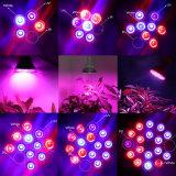 O diodo emissor de luz cheio do espetro E27 15W cresce a lâmpada leve para plantas