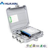 Indoor /Outdoor 8 coeurs FTTH Boîtier de distribution à fibres optiques avec séparateur PLC
