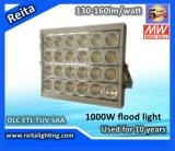 Dlc ETL 130-160lm/W 1000W LED Flood Light