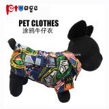 Nouveau chandail Jeans deux pattes de chien de vêtements pour animaux de compagnie