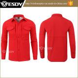 Chemise chaude rouge d'ouatine de vêtement de Softshell d'assaut militaire