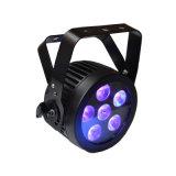 6X12W RGBWA UV LED Slim PAR, vous pouvez l'étape de la lumière avec boîtier en aluminium moulé pour Disco, vidéo, film, Studio de télévision