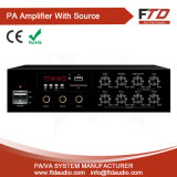 60W Tabletop Amplificateur mélangeur, DC12V, de construire en MP3/SD/FM/bluetooth/Echo