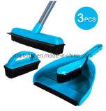 Pelle à poussière en caoutchouc balai brosse Set 3 pcs Set de nettoyage de la brosse à poils doux pour l'Epilation Multi-Surface pet