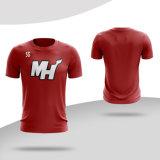 T-shirts personnalisés de haute qualité de l'impression sublimée Round-Neck T Shirt
