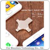 S03 4 em 1 Unidade Flash de telefone móvel 16GB para iPhone Huawei Android Computador