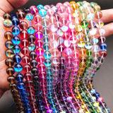 Hot Sale toutes sortes de pierres précieuses perles de verre opalescent perles rondes ordinaires