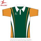 La sublimation hommes Polo Shirt personnalisé d'usure de sport