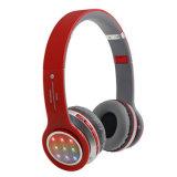 Fones de ouvido Bluetooth sem fio intermitente dobrável Inglês auricular de broadcast com luz de LED