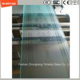 Panel de ducha de vidrio con prueba de ácido y seda