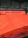 Coperchio blu/arancione impermeabile durevole del camion della tela incatramata del PE