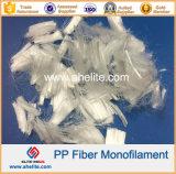Fibra concreta de la fibra de los PP del polipropileno del mortero de la construcción de la ingeniería