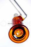 Tubo de vidrio ámbar de bolsillo fumar Bubber goteo Sidecar plataforma petrolífera