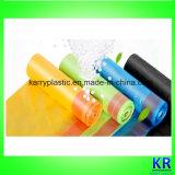 Sac d'ordures de HDPE avec Drawtape, sac en plastique à ordures