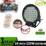 4WD를 위한 10inch 225W 크리 사람 반점 IP68 LED 모는 빛