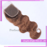 Бразильский вьющихся волос на спине закрытие крышек волос во фронтальной плоскости (5*5)