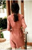 Одежда с платья шнурка MIDI карандаша разреза задней части плеча пурпурового