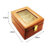 Коробка хранения PU кожаный Sunglass роскошной конструкции окна