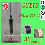 Al aire libre de 6 núcleos Gyxts Central-Tube blindados cables de acero de cable óptico de modo único