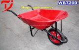 Plastikrad-Eber-Schubkarre Wb3500 mit 3 Rädern