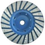 Roue de meulage de cuvette de diamant de RIM de Turbo pour le béton