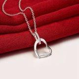 De Amerikaanse Juwelen van de Halsband van de Tegenhanger van Zircon van de Vorm van het Hart van de Manier Echte Zilveren Geplateerde Mooie