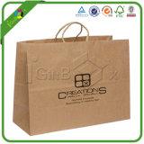 Bolsas de papel por encargo de Brown con la insignia para la ropa