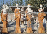 Het gesneden Marmeren Meubilair van de Tuin van het Beeldhouwwerk van de Steen van het Standbeeld Snijdende voor Decoratie (sy-X1079)