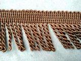 カーペットのための低価格6cmポリエステル金塊のフリンジ