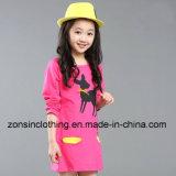 Algodón largo de la funda de los niños hecho falda de las muchachas en el vestir de los niños