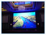 Tela de indicador de alumínio de fundição interna do diodo emissor de luz do gabinete P6.25 para o entretenimento/hotel/mercado/estágio