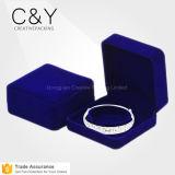 Коробка подарка браслета ювелирных изделий изготовленный на заказ оптового голубого цвета роскошная пластичная