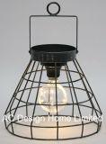 標準的で装飾的な円形の金属のキャンプのランタンW/LEDの電球
