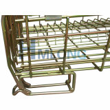 Apilable de metal medio de zinc de malla de alambre de malla de vinilo jaula