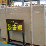 Laje real de alta qualidade de Botticino, mármore bege para venda