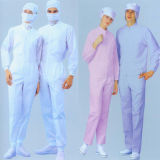 Vestiti antistatici utilizzati in locale senza polvere
