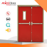 Puerta a prueba de fuego puerta de acero de fuego con puerta de acero certificada UL