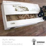 Housse de rangement en bois en bois personnalisée Hongdao avec caisse Wholesale_L