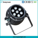 Rgbawuv 7pcs 14W ultraplat LED DMX PAR Can pour Disco