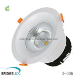 5W 10W 20W 30W 40W 50W LED Downlight encastré Puce LED Bridgelux COB LED Spots de plafond