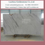 Pietra di marmo bianca poco costosa di Volakas tagliata per graduare mattonelle secondo la misura