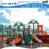 Cour de jeu extérieure de glissière de Playsets d'enfants à vendre HD-Tsa003