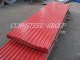 波形の金属の屋根瓦かカラー上塗を施してあるAluzincの鋼板