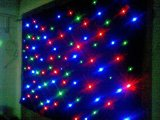 Das cortinas leves à prova de fogo da estrela do diodo emissor de luz da cortina da estrela de veludo 4*6m RGB da ponte dobro cortina ao ar livre do diodo emissor de luz