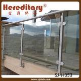 Pasamano marina de la terraza del vidrio Tempered del acero inoxidable del grado 316 (SJ-S344)