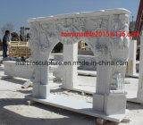 De witte Marmeren Open haard van het Beeldhouwwerk van de Steen (sy-MF004)