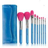 Professional Soft cabello sintético 9pcs conjunto de cepillos cosméticos (HERRAMIENTA-27)